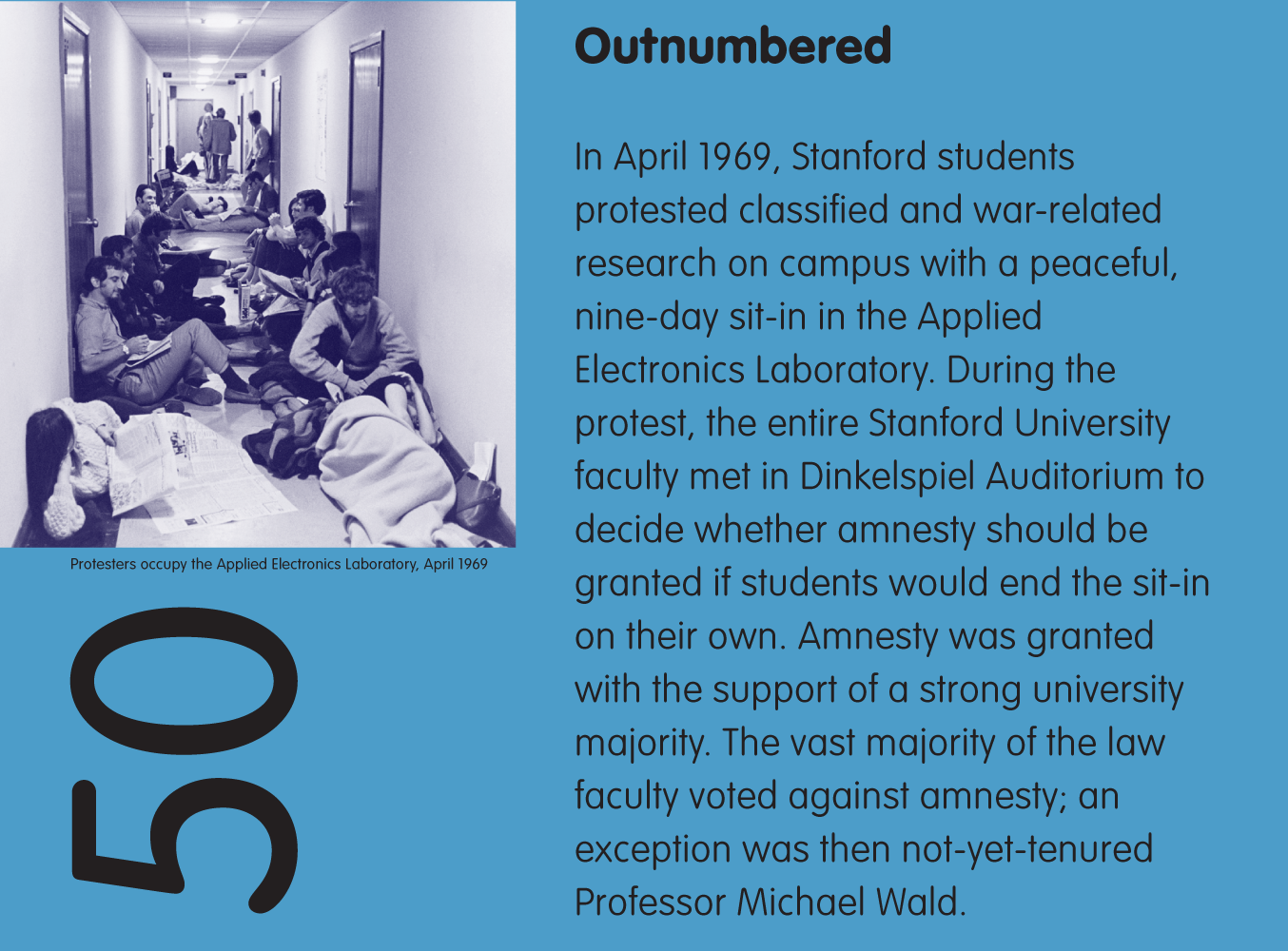 Protesters occupy the Applied Electronics Laboratory, April 1969